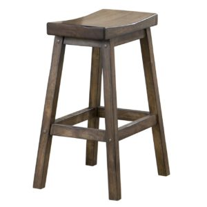 Carmel 24″ Saddle Barstool (Rustic Brown) by Winners Only