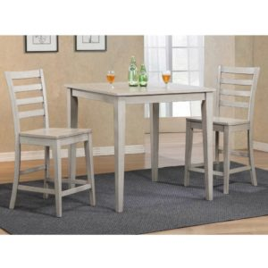 Carmel 3-Piece Tall Dining Set (Gray) by Winners Only
