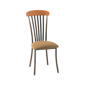 Tammy chair (upholstered seat with metal backrest and solid wood accent) by Amisco