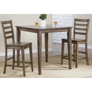 Carmel 3-Piece Tall Dining Set (Rustic Brown) by Winners Only
