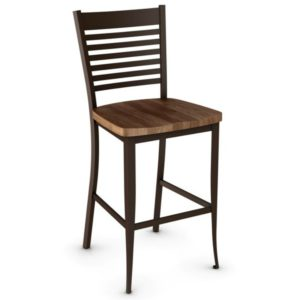 Edwin Non swivel stool (wood) ~ 40198 by Amisco
