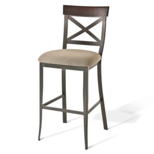 Kyle Non-Swivel Stool (distressed wood) ~ 40224 by Amisco