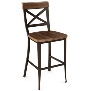 Kyle Non swivel stool (wood) ~ 40224 by Amisco