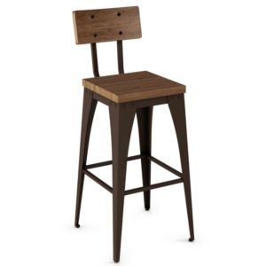 Upright Non swivel stool (wood) ~ 40264 by Amisco