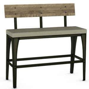 Architect Bench (wood/cushion) ~ 40272 by Amisco
