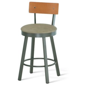 Lauren Swivel stool (cushion) ~ 40293 by Amisco