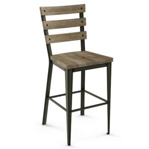 Dexter Non swivel stool (wood) ~ 40323 by Amisco