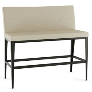 Pablo Bench w/ Quilted Fabric ~ 40372Q by Amisco