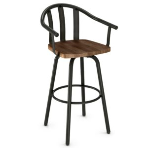 Gatlin Swivel stool (wood) ~ 40491 by Amisco
