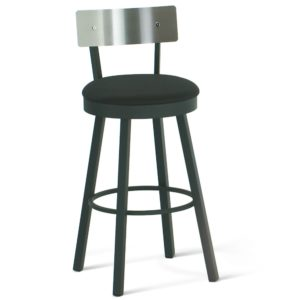 Lauren Swivel stool (cushion) ~ 40493 by Amisco