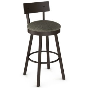 Lauren Swivel stool (cushion) ~ 40593 by Amisco