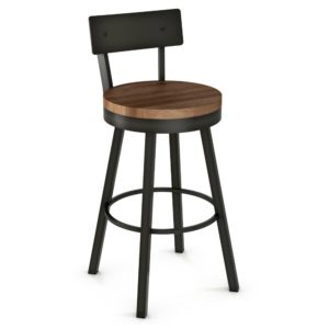 Lauren Swivel stool (wood) ~ 40593 by Amisco