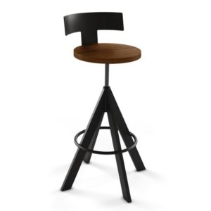 Uplift Screw Stool (wood) ~ 40614 by Amisco