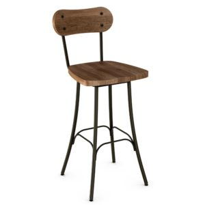 Bean Swivel Stool (wood) ~ 41268 by Amisco