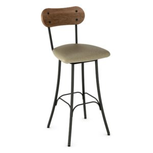 Bean Swivel Stool (cushion) ~ 41268 by Amisco