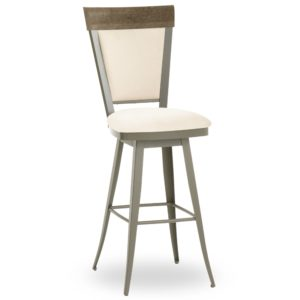 Eleanor Swivel stool (distressed wood) ~ 41410 by Amisco