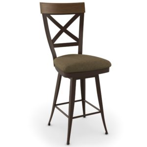 Kyle Swivel stool (cushion) ~ 41414 by Amisco