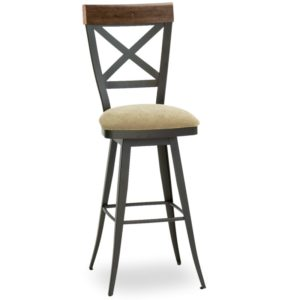 Kyle Swivel Stool (distressed wood) ~ 41414 by Amisco