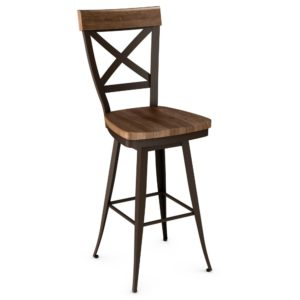 Kyle Swivel stool (wood) ~ 41414 by Amisco