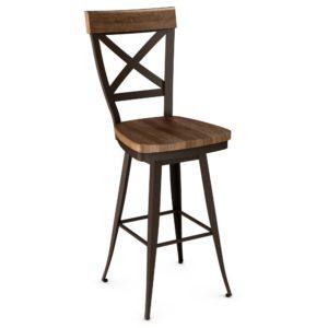Kyle Swivel stool (wood) ~ 41414 by Amisco