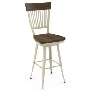 Annabelle Swivel Stool (distressed wood) ~ 41419 by Amisco