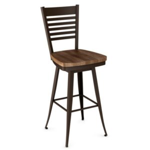 Edwin Swivel Stool (wood) ~ 41498 by Amisco