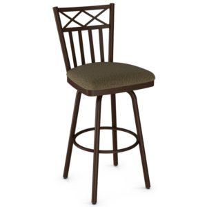 Wellington Swivel stool (cushion) ~ 41516 by Amisco