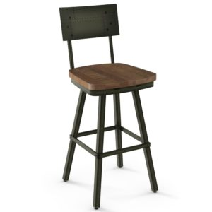 Jetson Swivel stool (wood) ~ 41527 by Amisco