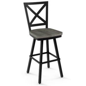 Kent Swivel stool (wood) ~ 41528 by Amisco