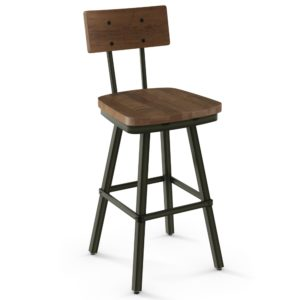 Jetson Swivel Stool (wood) ~ 41567 by Amisco