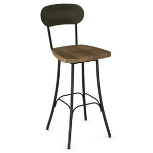 Bean Swivel Stool (wood) ~ 41568 by Amisco