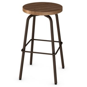 Button Swivel Stool (wood) ~ 42460 by Amisco