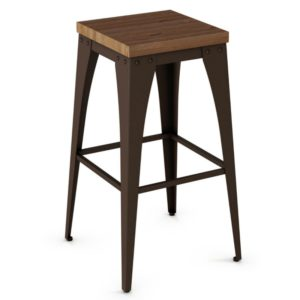 Upright Non swivel stool (wood) ~ 42564 by Amisco