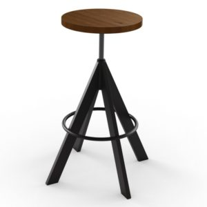 Uplift Screw Stool (wood) ~ 42614 by Amisco