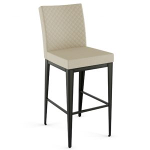 Pablo Non-Swivel Stool w/ Quilted Fabric ~ 45304Q by Amisco