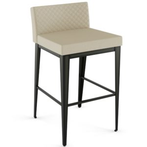 Ethan Plus Non-Swivel Stool w/ Quilted Fabric ~45309Q by Amisco