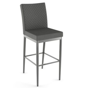 Melrose Non-Swivel Stool w/ Quilted Fabric ~ 45408Q by Amisco