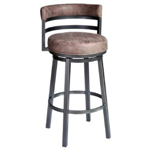Madrid Swivel Barstool (Tobacco) by Lee Jay