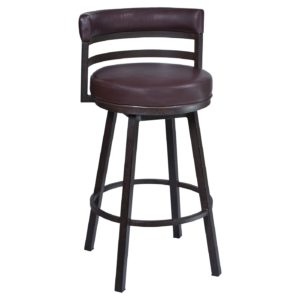 Madrid Swivel Barstool (Brown) by Lee Jay