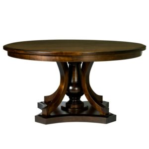 Arabella Round Pedestal Table by Amish Crafted by Noah Bontrager