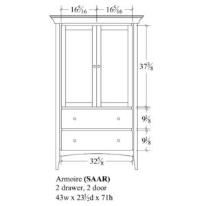 Sedona Armoire by Amish Crafted by Noah Bontrager