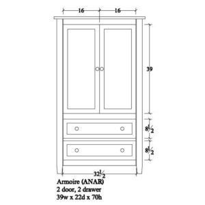 Adrian Armoire by Amish Crafted by Noah Bontrager