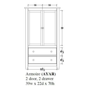 Audrey Armoire by Amish Crafted by Noah Bontrager