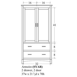 Sydney Armoire by Amish Crafted by Noah Bontrager