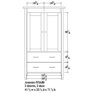 Victor Armoire by Amish Crafted by Noah Bontrager