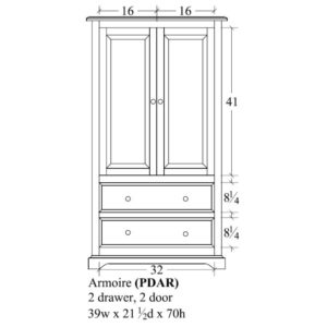 Portland Armoire by Amish Crafted by Noah Bontrager