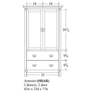 Savannah Armoire by Amish Crafted by Noah Bontrager