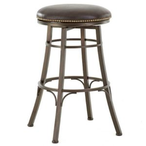 Baja Backless Swivel Barstool (Brown) by Monterey – Your Choice 24″ Counter or 30″ Bar