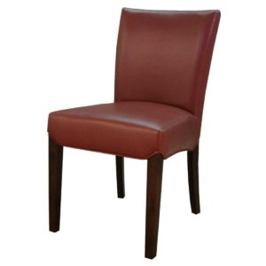 Beverly Hills Bonded Leather Chair Pomegranate by New Pacific Direct