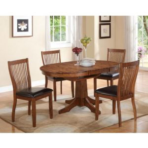 Broadway 5-Piece Dining Set (Acacia) by Winners Only